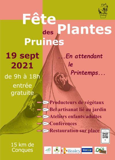 Affiche Fête des plantes PRUINES 2021